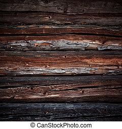 古い, 木材を伐採する, 背景