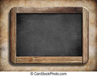 古い, 木製である, 型, フレーム, 背景, 黒板, グランジ