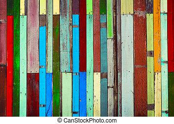 古い, 木製のパネル