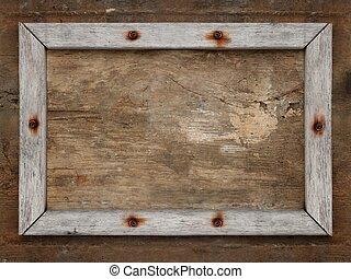 古い, 木製のフレーム