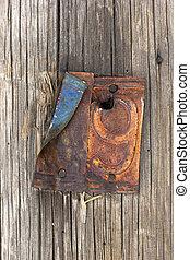 古い, 木製の家, 数9, ドア