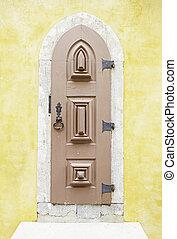 古い, 木製の戸, 中に, sintra