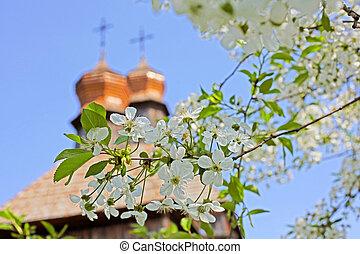 古い, 木製の教会堂, キリスト教徒, 正統
