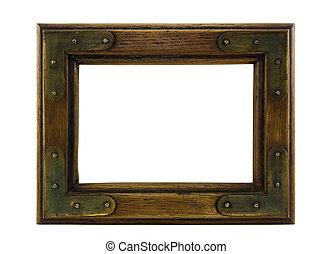 古い, 木製の画面