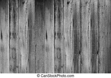 古い, 木, 黒い背景, 白, 板