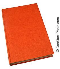 古い, 本, ハードバック, textured, オレンジ, cover.