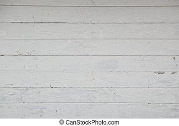 古い, 板, ペイントされた, ボートハウス, 横, 白