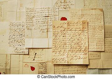 古い, 横, 手紙