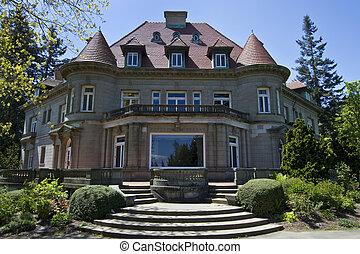 古い, 歴史的, pittock, 大邸宅