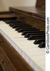 古い, 浅い, の上, フィールド, 深さ, piano-, 終わり