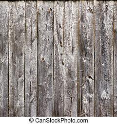 古い, 灰色, フェンス, 板, 木手ざわり