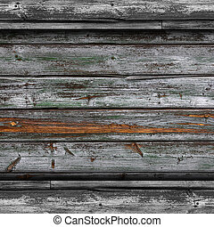 古い, 灰色, フェンス, 緑, 板, 木手ざわり, 壁紙