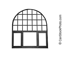 古い, 窓枠, 隔離された