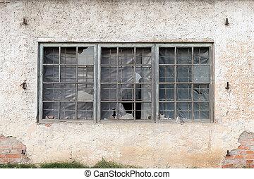 古い, 窓, 中に, 歴史建造物
