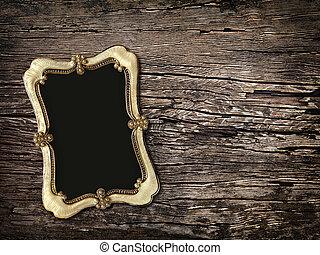 古い, 背景, 木製である, 写真, 型