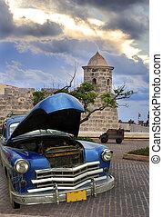 古い, 自動車, 中に, ハバナ