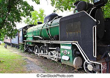 古い, 蒸気の 列車