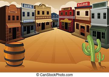 古い, 西部の町