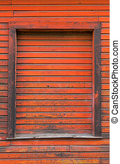 古い, 貯蔵, 木, 外面, 倉庫, ドア, 赤