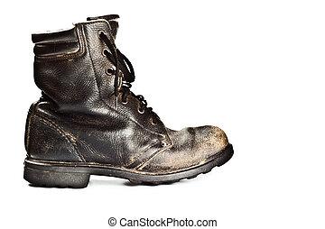 古い, 軍隊, スタイル, ブーツ