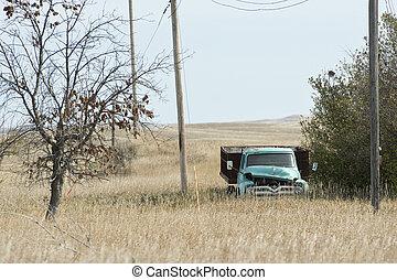 古い, 農場, トラック