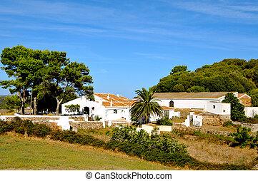 古い, 農場, 中に, menorca, balearic 島, スペイン