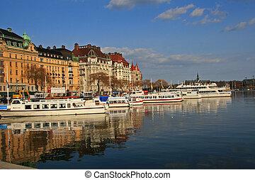 古い 都市, ストックホルム, スウェーデン