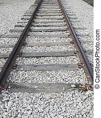 古い, 鉄道, ポイント, 消失, 先導, 軌道に沿って進む