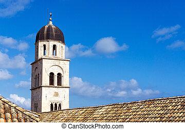 古い, 鐘楼, dubrovnik, 町, 都市, croatia