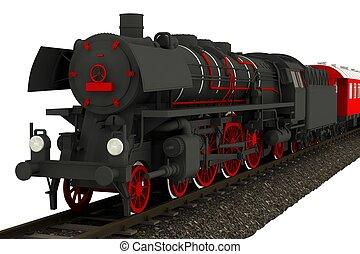 古い, 隔離された, 機関車