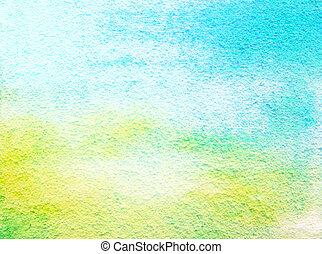 古い, 青, 抽象的, ぼろを着ている, パターン, 黄色, 緑の背景, textured, wall: