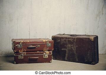 古い, 2, スーツケース