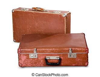 古い, 2, suitcases.