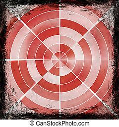 古い, border., 型, 抽象的, 手ざわり, バックグラウンド。, グランジ, フレーム, 赤
