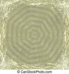 古い, border., 型, 抽象的, 手ざわり, 金, バックグラウンド。, 黄色, グランジ, フレーム