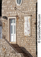 古い, dubrovnik, 家, croatia, kolorina, 港