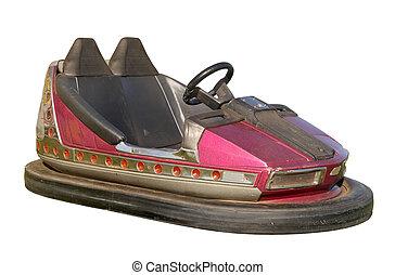 古い, funfair, 車。, バンパー