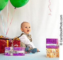 古い, gifts., 1(人・つ), birth., 年, 赤ん坊, 日
