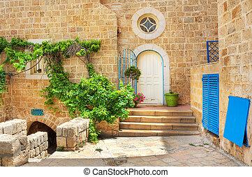 古い, house., israel., yafo