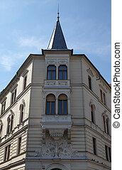 古い, ljubljana, 中世, 都市, ロマンチック, スロベニア