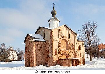 古い, novgorod, veliky, 教会, russia., 光景