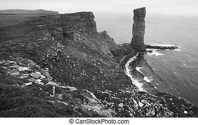古い, orkney., スコットランド, hoy., スコットランド, 風景, 人