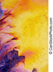 古い, paper:, 抽象的, textured, 黄色, パターン, 緑, 背景, 背景, すみれ, 花, 赤
