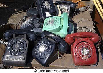 古い, phones., ロータリー