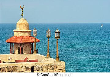 古い, yafo, israel., mosque.