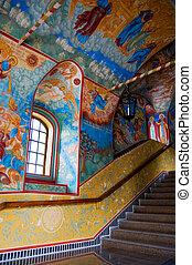 古い, yaroslavl, 内部, 教会, ロシア人, ロシア