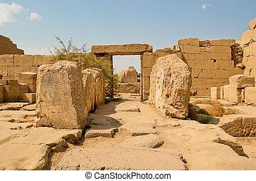 古代台なし, 寺院, karnak, egypt.