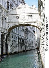 古代, ため息の橋, ∥, 水 方法, 中に, ベニス イタリア