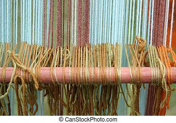 古代, はたを織る, 有色人種, ぼんやりと現われなさい, thesis, 羊毛, 織物