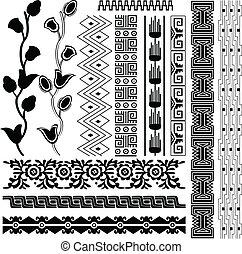 古代, アメリカ人, パターン